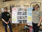 Madeleine Marken and Rebecca  manned the OSD Table at the Falmouth Preservation Alliance Expo on 05-20-17