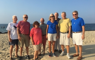 L to R: Mike Herlihy, Paul Smith, Anne Prior, Kevin Doyle, Polly Thayer, Jim Fox, Steve Saunders, Jay Thayer
