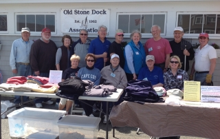 Bruce Mogardo (2nd from left) with Old Stone Dock Association Members 05-21-16
