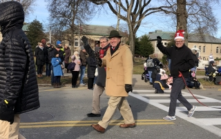 OSD Members Jay Thayer, Kevin Doyle and Paul Smith, Falmouth Christmas Parade, 12-09-18