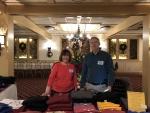 Terry Saunders & Steve Saunders Selling OSDA Logo Wear, 12-09-18