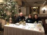 Bob Lehtinen, Cindy Lehtinen, Jennifer McGovern at Registration Table, 12-09-18