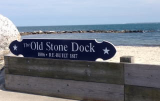 Quarterboard, Old Stone Dock, Surf Drive Beach, Falmuth