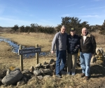Jay Thayer, Jim Crossen and Kevin Doyle at Crossen Creek 02-2018