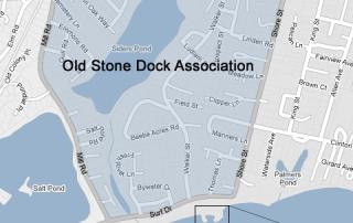 Old Stone Dock Map Falmouth, MA